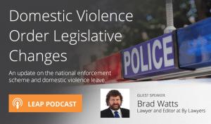 Domestic Violence Order Legislative Changes
